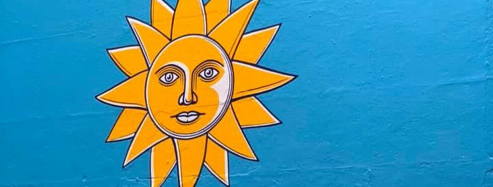 Banbury BID Pocketful of Sunshine sun mural