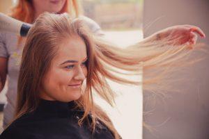 Lady at a hair salon